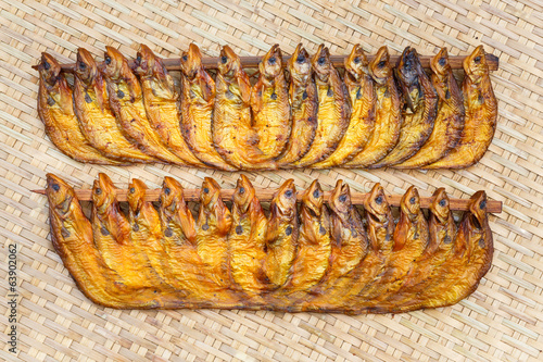 Crispy smoke dried ompok bimaculatus fish