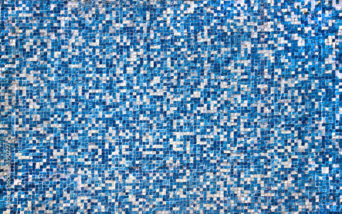 background of blue ceramic tiles