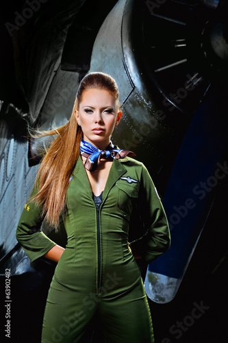young woman aviator