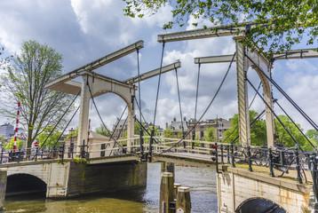 Drawbridge in Amsterdam, Netherands.