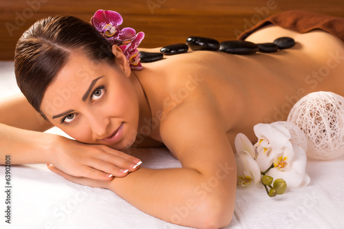 beautiful girl in a spa salon