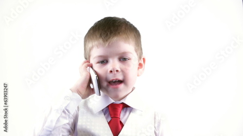 Little boy calling
