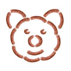 Schwein Wurst Knacker Knackwurst Fleischer Fleischerei