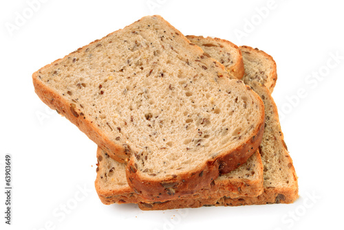 Slices of wholemeal seeded brown bread
