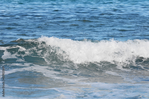 Wave in the Blue Atlantic Ocean