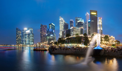 Singapore skyline and cityscape