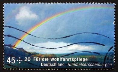 Postage stamp Germany 2009 Rainbow, Celestial Phenomena