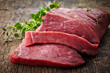 canvas print picture - fresh raw meat