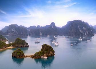 Halong Bay Vietnam natural landscape background
