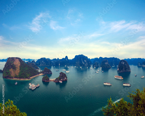 Halong Bay Vietnam natural landscape background