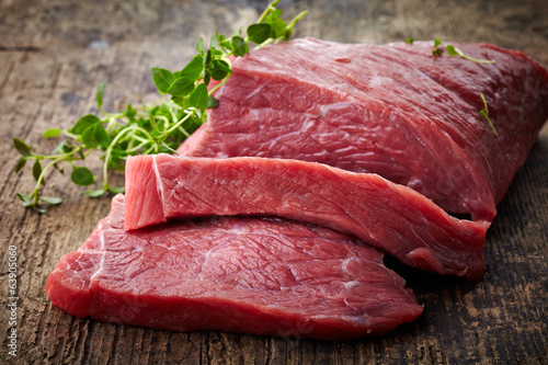 Aluminium Vlees fresh raw meat
