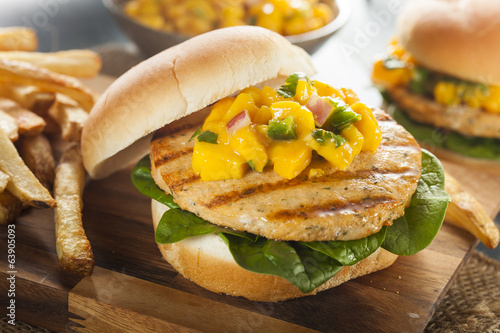 Mahi Fish Sandwich with Salsa