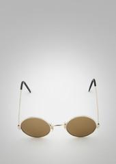 Retro round sunglasses on white background