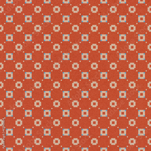 Seamless red  pattern on paper