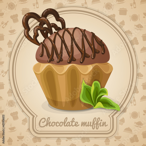 Chocolate muffin poster