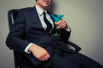 Businessman with cocktail