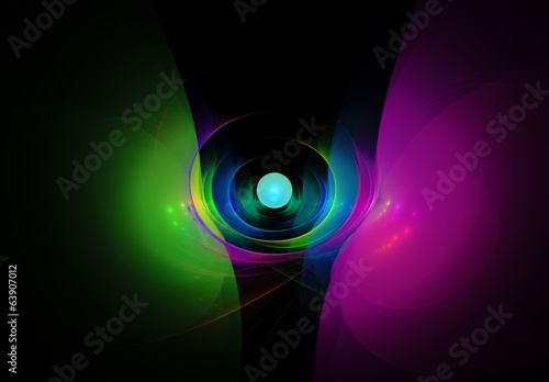 Colorful abstract on black background