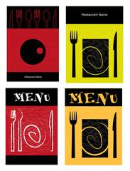 set di menù per ristorante