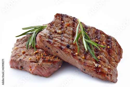 Poster Kruidenierswinkel grilled beef steak