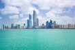 Panorama of Abu Dhabi, the capital city of United Arab Emirates