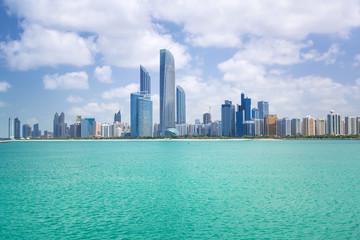 Panorama of Abu Dhabi, the capital city of United Arab Emirates