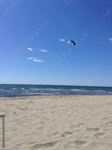canvas print picture Kitesurfing in Versilia