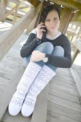 téléphonant