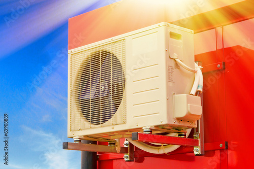 Air condition on a hot day