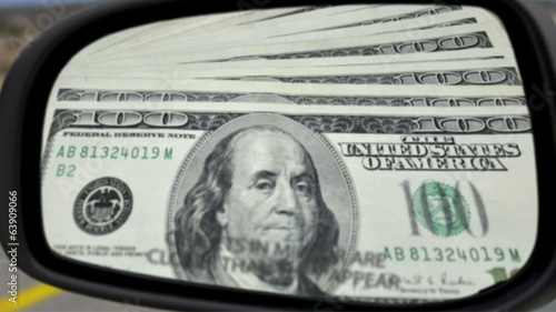 Objects In Mirror Money Concept