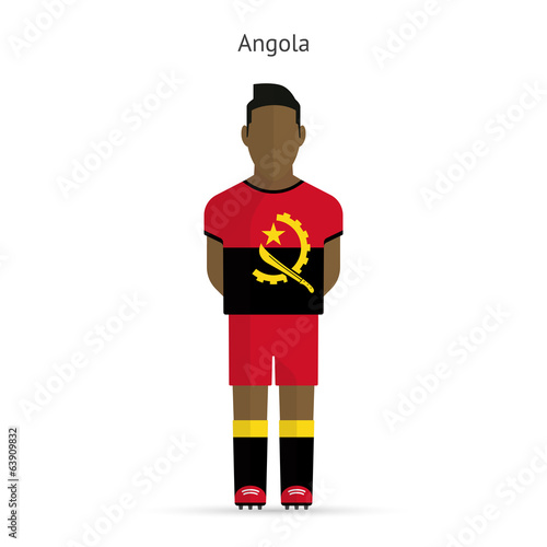 Angola football player. Soccer uniform.
