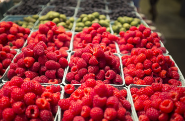 Organic rasberries at Framer's Market