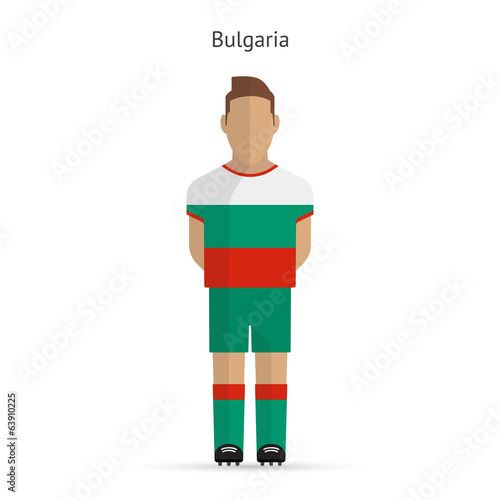 Bulgaria football player. Soccer uniform.