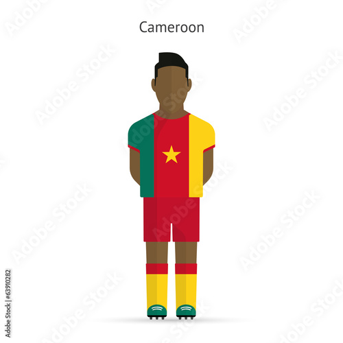 Cameroon football player. Soccer uniform.