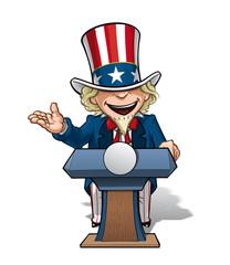 Uncle Sam Presidential Podium Open