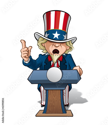 Uncle Sam Presidential Podium intence