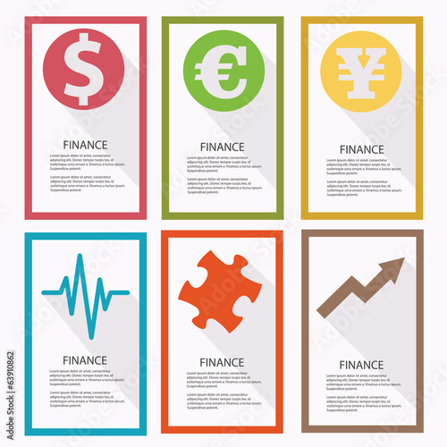 Finance banners,vector