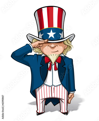 Uncle Sam Saluting