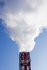 Дымящие трубы городской газовой котельной