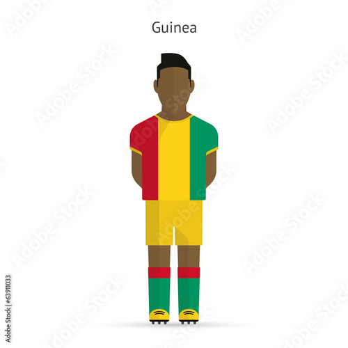 Guinea football player. Soccer uniform.