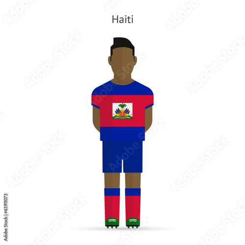 Haiti football player. Soccer uniform.