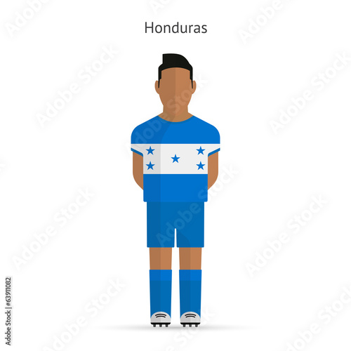 Honduras football player. Soccer uniform.