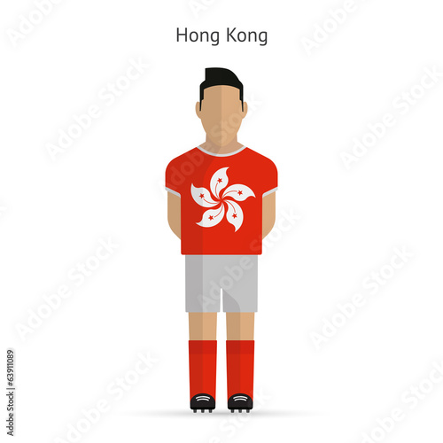 Hong Kong football player. Soccer uniform.