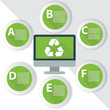 Recycle Infographics,for text,Green vector
