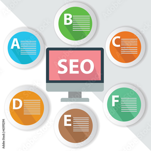 SEO Infographics,for text,Colorful vector
