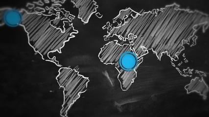 World Dot Blue Connection on Blackboard