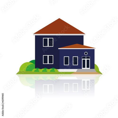 Building Illustration Isolated On White Background
