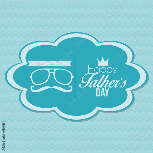 Happy Father's Day Template Card Background