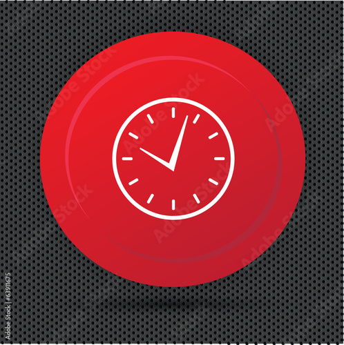 Clock button,vector