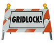Gridlock Road Barrier Barricade Warning Traffic Sign