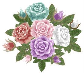 クラシックな薔薇の花束